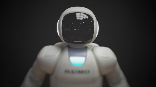 white robot wallpaper